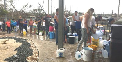 Baxter manufacturing facility in Puerto Rico providing water to the community.